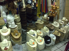 Fancy a cowboy hat? There is a massive selection for sale at the Tapachula Market