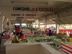 Food court section of Tapachula Market