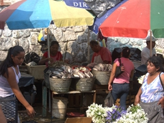 The open air fish section of Tapachula Market