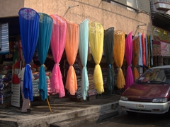 Colorful mosquito nets; Tapachula