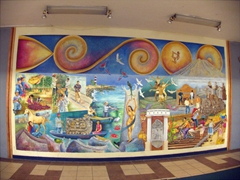 Mural inside City Hall; Tapachula