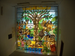 City Hall's stained glass window; Tapachula