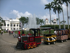 A toy train ride at Tapachula's Miguel Hidalgo Park