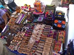Souvenir stand selling Chiapas trinkets; Tapachula