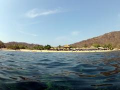 View looking back towards La Entrega Beach; Huatulco