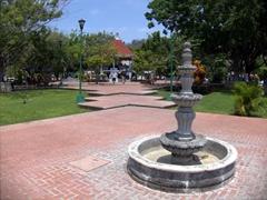 The little park in touristy Santa Cruz; Huatulco