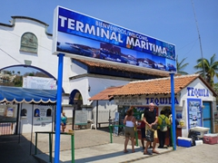 Entrance to Santa Cruz maritime terminal
