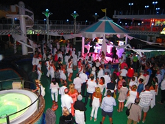 White hot party open air dance floor
