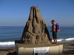 Sand sculptures are big business in Puerto Vallarta