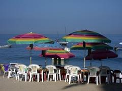 Rainbow umbrella shades in gay friendly Puerto Vallarta