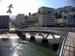 Curvy bridge leading to the malecon; Puerto Vallarta