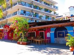 Colorful buildings in sunny Puerto Vallarta