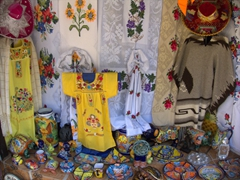 Handicrafts for sale at the crafts market on Cuale River Island; Puerto Vallarta