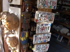 License plate souvenirs; Puerto Vallarta flea market