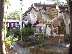 There are dozens of shopping stalls selling all sorts of souvenirs and handicrafts; Cuale River Island in Puerto Vallarta