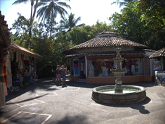 Small courtyard on Cuale River Island, Puerto Vallarta