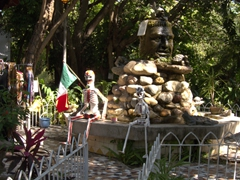 Day of the dead display at a small park on Cuale River Island; Puerto Vallarta