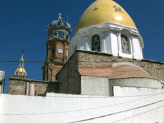 A Puerto Vallarta icon, the tower and dome of Cathedral of Our Lady of Guadalupe