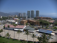 View of Puerto Vallarta as seen from the deck of our cruise ship