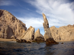 Magnificent views on the water taxi ride at Cabo San Lucas
