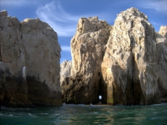 A tunnel linking the Pacific to the Sea of Cortez; Cabo San Lucas