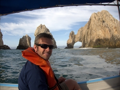 Robby and the arch; Cabo San Lucas