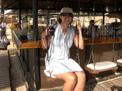 Bar swings at Medano Beach; Cabo