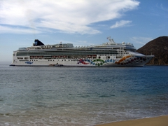 Norwegian Pearl just offshore at Cabo San Lucas