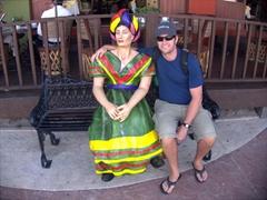 Robby next to a Mexican senorita; Cabo