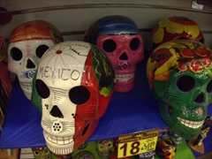 Mexican day of the dead souvenirs; Cabo