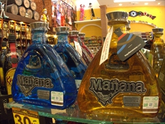 Mañana tequila for sale at Hacienda Tequila in Cabo