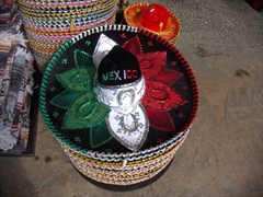 Mexican sombreros for sale; Cabo
