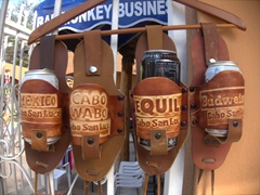 Only in Cabo...beer holsters for sale!