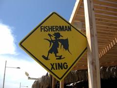 Sign at Cabo's marina