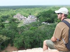 Robby overlooking the ruins of Ek Balam, Valladolid