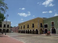 Colorful buildings in pretty Valladolid