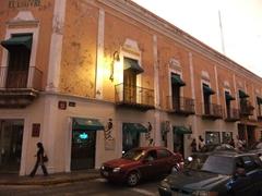 Dusk on a street near Merida's Plaza de la Constitucion