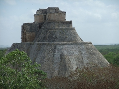 Another view of the Piramide del Adivino; Uxmal