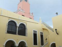 Inner courtyard view of Merida's city hall