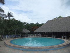 A welcome sight after our Chichen Itza excursion; Dolores Alba's swimming pool