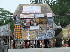 Shop till you drop opportunities abound immediately outside Coba's ruins