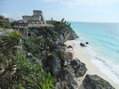 Tulum's Mayan ruins are the most scenic of them all, luring in thousands of visitors each day. Arrive early to enjoy the sights by yourself!