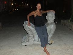 Becky relaxes in Playa del Carmen
