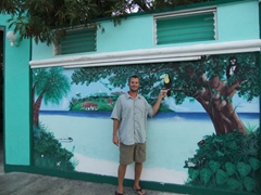 Robby and the tucan; Playa