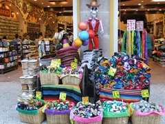 Stores such as this one on Playa del Carmen were full of tourists buying up everything under the sun