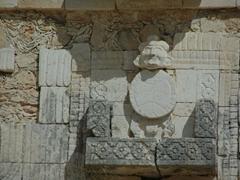 Detail of a carving at Quadrangulo de las Monjas (Nunnery Quadrangle); Uxmal