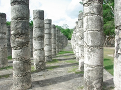 Group of 1000 columns section; Chichen Itza
