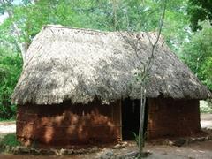 Traditional hut; Chichen Itza
