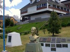 An Evita monument; Ushuaia