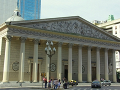Cathedral Metropolitana is a dominating building on the corner of Plaza de Mayo; Buenos Aires